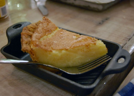 The chess pie is light enough to squeeze in after a hearty meal. | Nancy Stiles