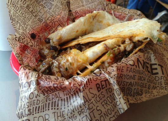 This quesarito combines the best elements of a quesadilla and a burrito in one very messy meal. - LIZ MILLER