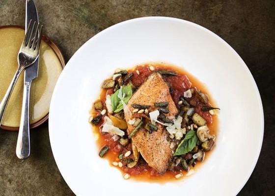Salmon at Mad Tomato.   Jennifer Silverberg
