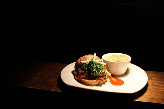The pulled pork sandwich at the Crow's Nest - MABEL SUEN