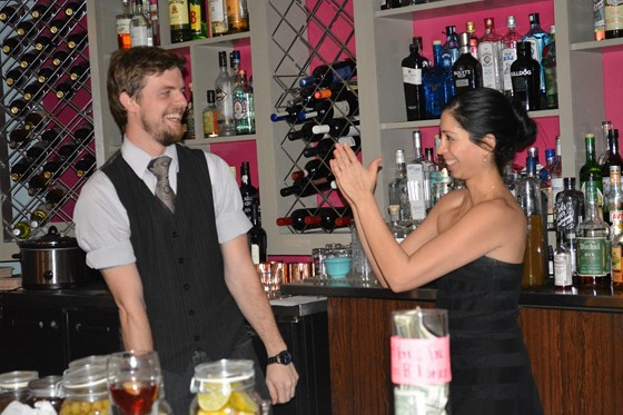 Travis Garner and Natasha Bahrami. | Courtesy of the Gin Room