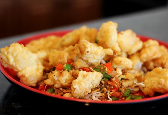 Spicy fried fish.