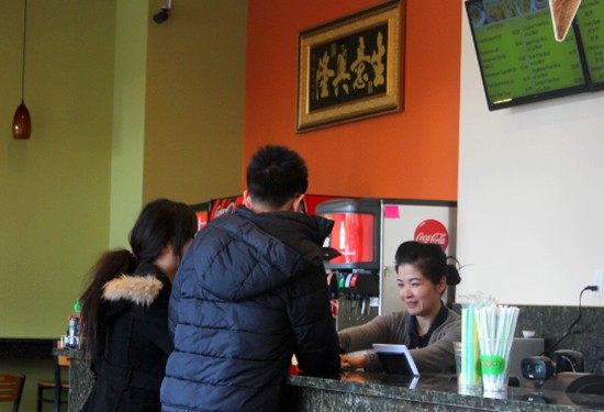 Order at the counter to dine in or carry out.