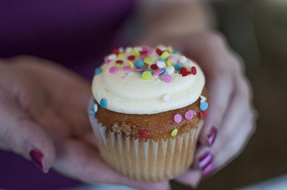 The Cup's Confetti cupcake. | Caroline Yoo