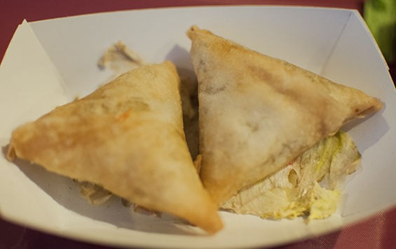 Chicken samosas at Anis Hyderabad House. | Caroline Yoo