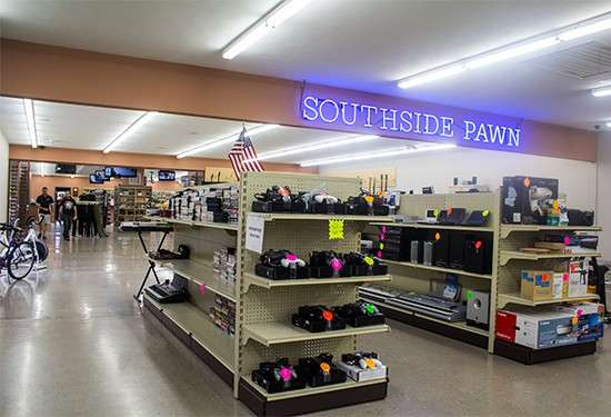 Southside Pawn across the causeway.