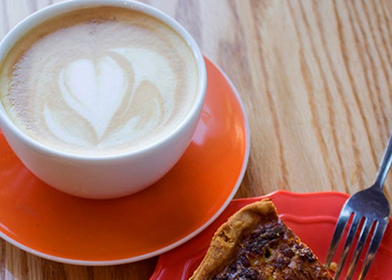 A latte at Rise Coffee. | Mabel Suen