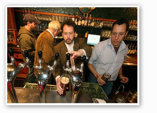 Schlafly co-founder Dan Kopman pouring brews.   Nick Schnelle