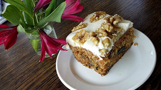The carrot cake is rich and decadent without being too sweet. - KAITLIN STEINBERG