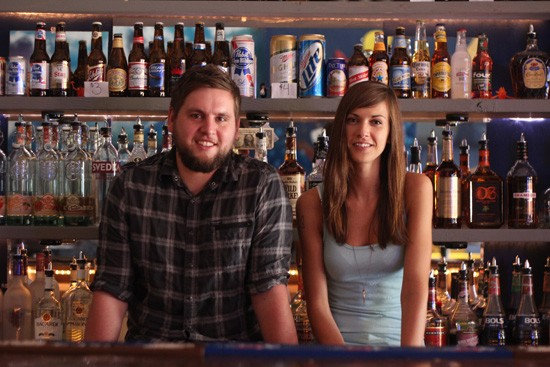 Joshua Timbrook and Jodie Whitworth, co-owners of The Heavy Anchor, a new 21+ indie community hangout dive bar - MABEL SUEN