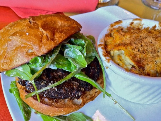This mushroom burger will have you buzzin. - BRYAN PETERS
