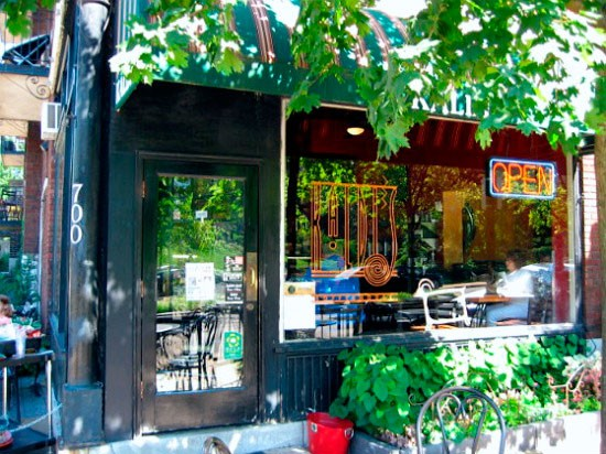 Kaldi's on DeMun, one of two locations giving out free coffee and breakfast to bikers tomorrow. - RFT PHOTO