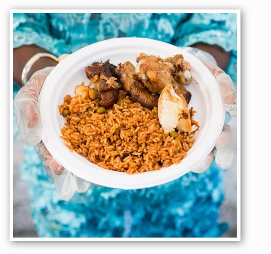 A dish from the Liberian tent. | Theo Welling