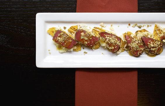 The ahi tuna tostadas at Kota Wood Fire Grill - JENNIFER SILVERBERG