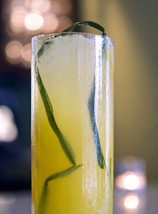 A lemongrass elixir, which is lemongrass simple syrup, muddled lemons, fresh squeezed oranges and club soda. Offered by bartender Charles Butler who has been with Fond for three months. See more photos. - PHOTO: JENNIFER SILVERBERG