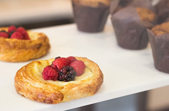 Whitebox Eatery offers a variety of rotating baked goods, including this fruit tart by pastry chef Jamie Hardesty.