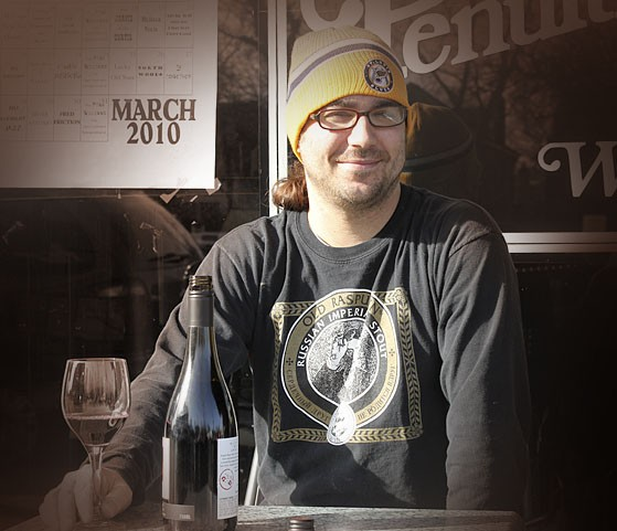 See this guy? His name's Derek Flieg. When you're at Riddle's, seek him out and ask him about wine. - TOM CARLSON