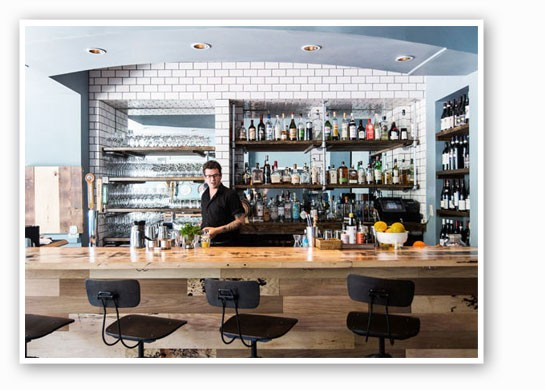 The bar at the Libertine. | Jennifer Silverberg