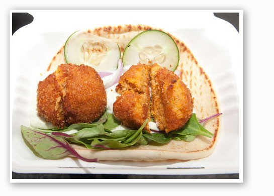 Sweet potato falafel from Lulu's Local Eatery. | Jon Gitchoff