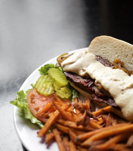 The beef brisket sandwich at Market Grill - JENNIFER SILVERBERG