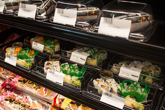 Grab-and-go sushi.
