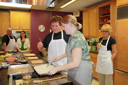 Kelly Schmickle and Jerad Gardner teaching at Kitchen Conservatory. - KELLI BEST-OLIVER