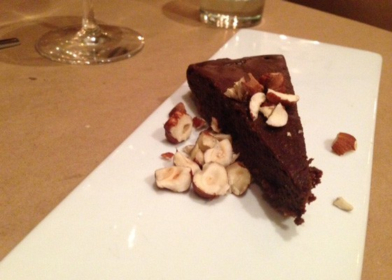 A chocolate-hazelnut torte. | Nancy Stiles