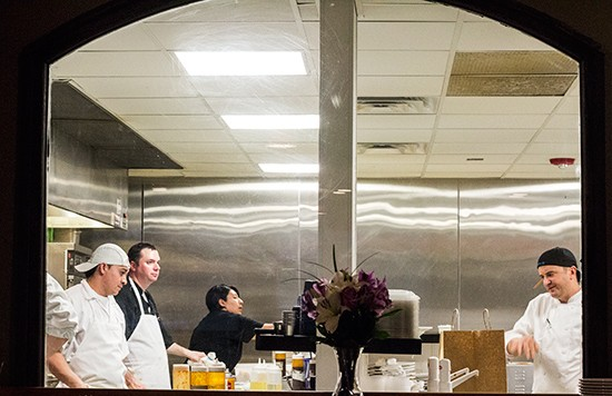 A look into the kitchen.