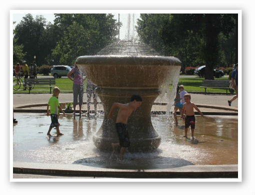 On a hot day, water fountains are the best | Pat Kohm