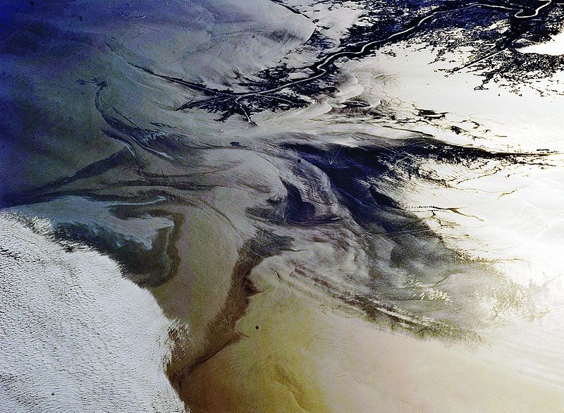 The Gulf of Mexico oil spill as seen from the International Space Station - IMAGE VIA