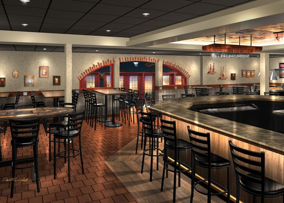 An alternate view of the new bar.   Courtesy of Hacienda