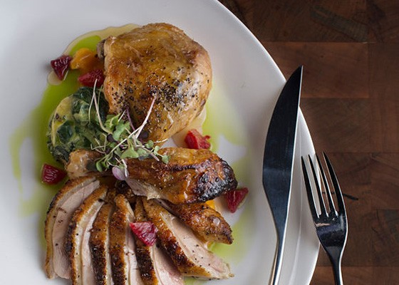 Roasted peppered duck at the Restaurant at the Cheshire. | Jennifer Silverberg
