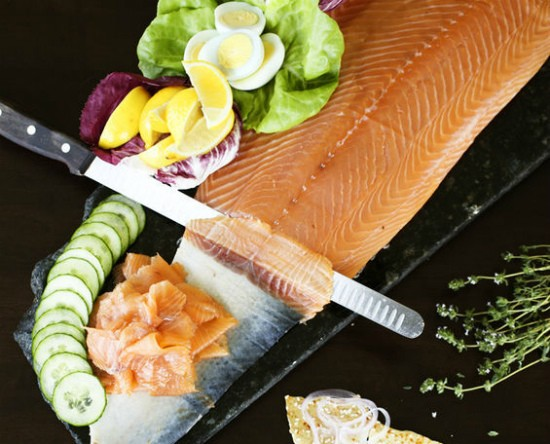 At Bixby's Sunday brunch, the smoked salmon shares space on a table with some of its traditional accompaniments. - JENNIFER SILVERBERG
