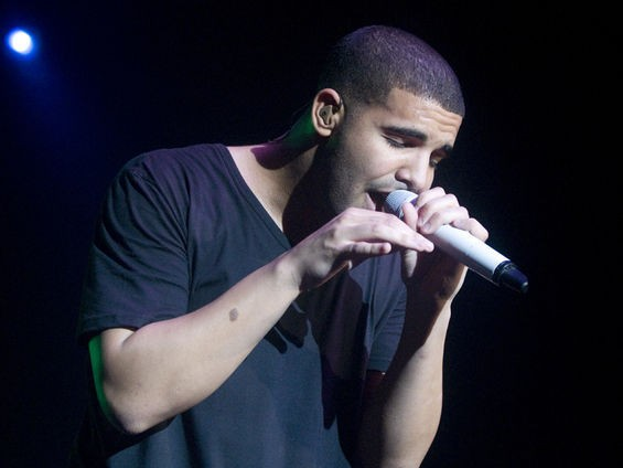 Drake at Super Jam in 2010. See more Drake and Gucci Mane photos. - JON GITCHOFF