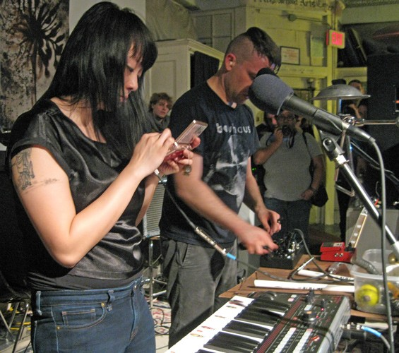 Xiu Xiu last night at the Lemp Neighborhood Arts Center. - PHOTO: DIANA BENANTI