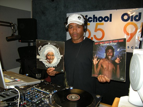 G. Wiz in the studio at Old School 95.5, his current regular DJing gig. - COURTESY OF G. WIZ