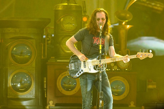 Rush's Geddy Lee. More photos from the show here. - TODD OWYOUNG