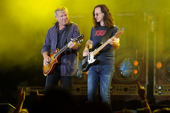 Lifeson and Lee. More photos here. - TODD OWYOUNG