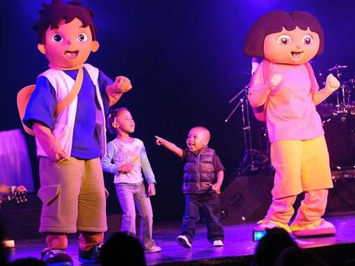 Even Dora the Explorer came out to help celebrate the TMAs. - JASON STOFF