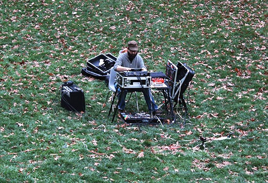 Hall performing at Laumeier Sculpture Park. - MABEL SUEN