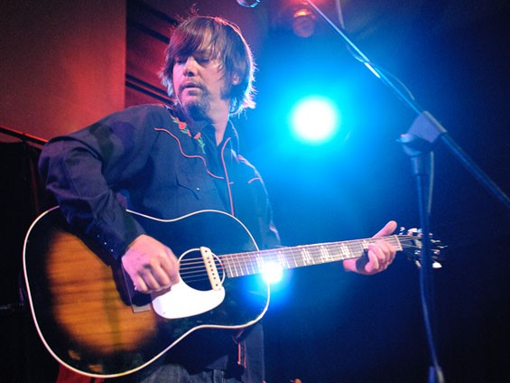Jay Farrar last night at the Old Rock House. See a full slideshow from last night's Jay Farrar solo gig at the Old Rock House. - PHOTO: JASON STOFF