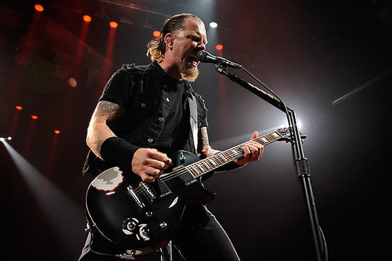 James Hetfield in St. Louis in 2008. More photos here. - TODD OWYOUNG