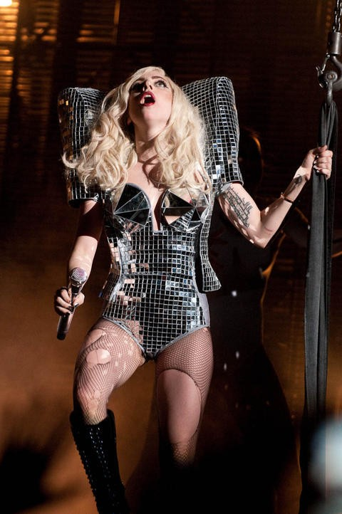 Lady Gaga at the Nokia Theatre in Los Angeles on December 23, 2009. See more photos here. - TIMOTHY NORRIS / LA WEEKLY