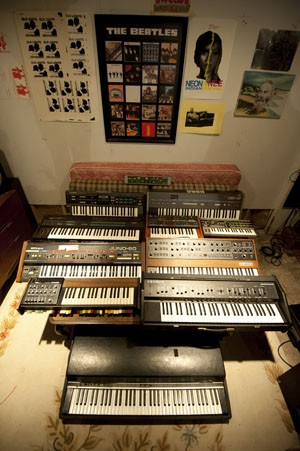 A collection of synthesizers. - KHOLOOD EID