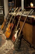 A few guitars at Native Sound. - KHOLOOD EID