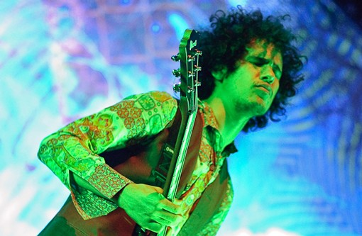 Omar Rodríguez-López of the Mars Volta. See more photos from last night. - PHOTO: JASON STOFF