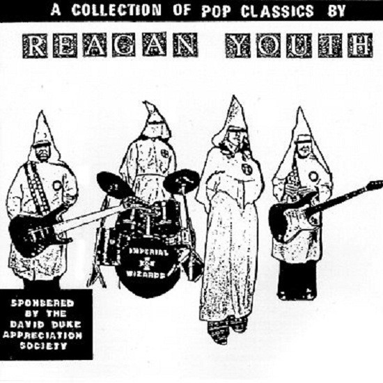 "Reagan Youth was a non-racist band who famously ""Hated Hate,"" but who frequently used racist imagery in order to help drive home the band's point that Reagan was evil. The name of the group is in fact a parody of the ""Hitler Youth"" of World War II."