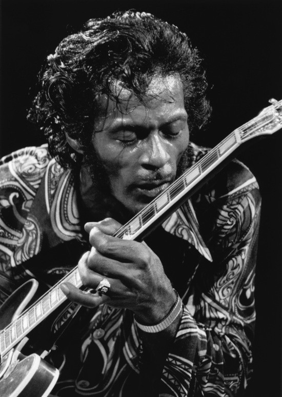 CHUCK BERRY IN 1971. PHOTO BY BOB GRUEN