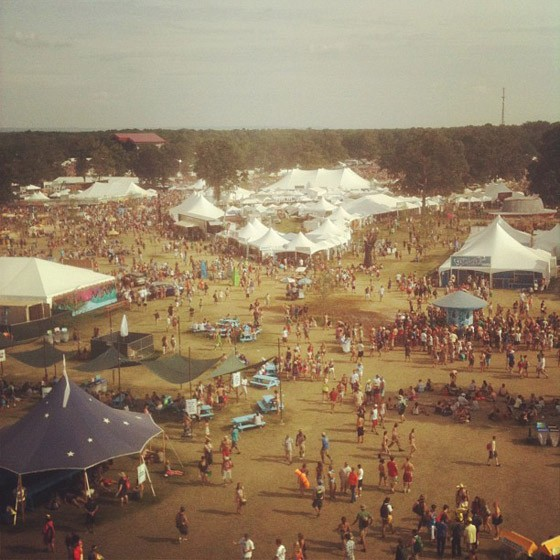 The view from on top the ferris wheel at Bonnaroo 2012. - KHOLOOD EID