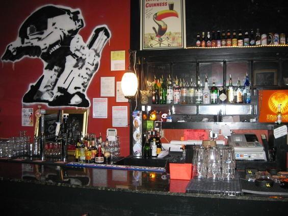 The Crack Fox's well-stocked bar